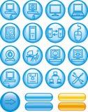 Web Icons Set – Hardware (Vector). Set of vector icons isolated on white background royalty free illustration