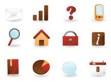 Web icons set 1 Royalty Free Stock Photos