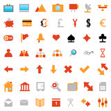 Web icons set. Collection of different icons for using in web design Royalty Free Stock Images