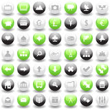 Web icons set. Collection of different icons for using in web design Royalty Free Stock Photos