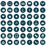 Web icons set. Collection of different icons for using in web design Stock Photo