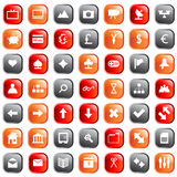 Web icons set. Collection of different icons for using in web design Royalty Free Stock Photo