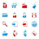 Web icons set. Vector label icon set for web design (set 4 Stock Photos