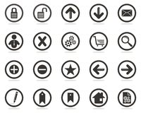 Web icons set. One color web icons for your web site Royalty Free Stock Photography
