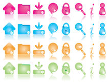Web icons set 2 Royalty Free Stock Photos