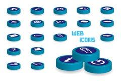 Web Icons Set - 3D illustration Stock Photos