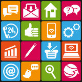Web icons. Set of 16 IT and web icons stock illustration