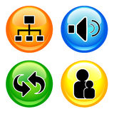 Web icons set Stock Photos