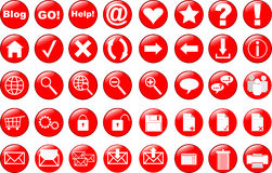 Web icons set. Of 40 objects stock illustration