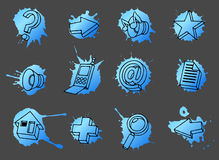 Web icons set Stock Photo
