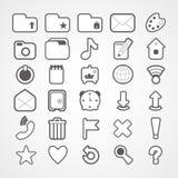 Web icons set Royalty Free Stock Images