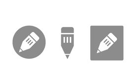 Web icons. Set of web icons and buttons: edit, edition Stock Photo