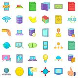Web icons set, cartoon style. Web icons set. Cartoon style of 36 web vector icons for web isolated on white background Royalty Free Stock Photography