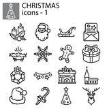 Icons set. Christmas and New Year. Web icons set. Christmas and New Year Royalty Free Stock Images