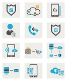 Web icons set. Computer icons set for your website Royalty Free Stock Image