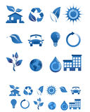 Web icons set in dark blue Royalty Free Stock Photography