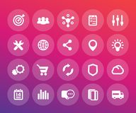 Web icons set, e-commerce, business, marketing. Vector pictograms Royalty Free Stock Photography