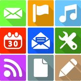 Web Icons Set 3. This is file of EPS10 format Royalty Free Stock Images