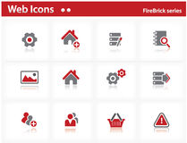 Web icons set - FireBrick series. Set 2 Royalty Free Stock Photography