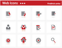 Web icons set - FireBrick series Royalty Free Stock Photography