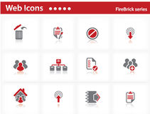 Web icons set - FireBrick series Stock Photography