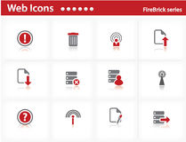 Web icons set - FireBrick series. Set 6 Stock Photos
