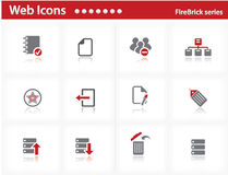 Web icons set - FireBrick series. Set 7 Royalty Free Stock Images