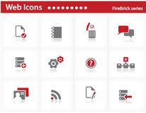 Web icons set - FireBrick series Stock Photos