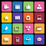 Web Icons Set in Flat Design Royalty Free Stock Photos