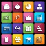 Web Icons Set in Flat Design Royalty Free Stock Image