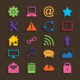 Web Icons Set in Flat Design Stock Photography