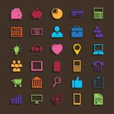 Web Icons Set in Flat Design Stock Image