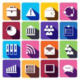 Web Icons Set in Flat Design.  Stock Photography