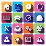 Web Icons Set in Flat Design stock illustration