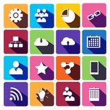 Web Icons Set in Flat Design.  Royalty Free Stock Photos