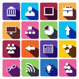 Web Icons Set in Flat Design Royalty Free Stock Images