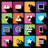 Web Icons Set in Flat Design Royalty Free Stock Photo