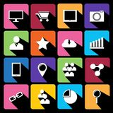 Web Icons Set in Flat Design.  Royalty Free Stock Photo
