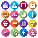 Web Icons Set in Flat Design Royalty Free Stock Photography
