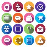 Web Icons Set in Flat Design.  Stock Images