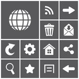 Web icons. Set of flat simple web icons,  illustration Stock Images