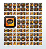 Web icons set  illustration Royalty Free Stock Photography