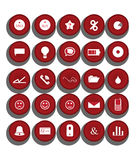 Web Icons Set. Illustration of  Web Icons Set design Royalty Free Stock Photos