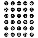 Web icons illustration. Web icons set for internet and applications Royalty Free Stock Photos