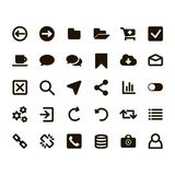 Web icons illustration. Web icons set for internet and applications Stock Photography