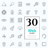 30 web icons. Set of web icons for internet services. 30 line icons high quality, vector illustration Stock Image