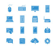 Web icons set. Network and mobile devices. Network connections. Vector icons Royalty Free Stock Photography