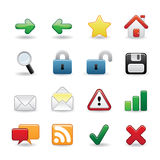 Web icons. Set No. 1 Royalty Free Stock Photo