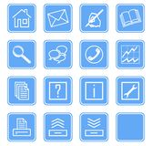 Web icons set no.2 - blue.1 Stock Photo