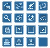 Web icons set no.2 - blue.2 Royalty Free Stock Photo